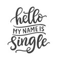 hello my name is single funny phrase vector image