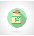Herbal extract flat color design icon vector image