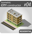 Isometric city constructor - 04 vector image vector image