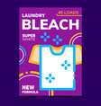 laundry bleach creative advertise poster vector image vector image