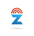 Letter Z wireless logo icon design template vector image vector image