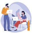man and woman taking talking to each othe vector image
