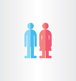 man and woman toilet symbols vector image vector image