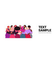 mix race girls embracing standing together female vector image vector image