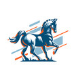 muscular steed horse vector image