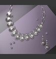 necklace and earrings vector image vector image