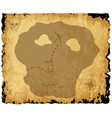 old pirate treasure map vector image vector image