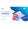 online shopping with smartphone e-commerce vector image vector image