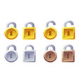 padlock icon with square and round shape vector image