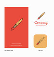 paint brush company logo app icon and splash page vector image