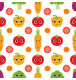 pattern with cute vegetables vector image vector image