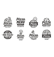 Pizza italian Collection labels for menu design vector image