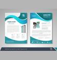 presentation flyer vector image