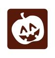 pumpkin halloween card icon vector image
