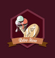 retro store ice cream money shopping vector image