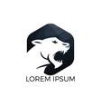 roaring tiger logo design vector image vector image