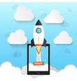 rocket symbol for startup business design vector image vector image