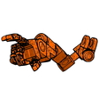 Rusty hand vector image vector image
