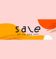 sale banner horizontal web banner template vector image vector image