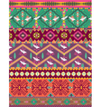Seamless colorful aztec pattern with birds vector image vector image