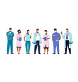 set male and female characters black doctors vector image vector image