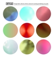 Set of colorful blurred round spots vector image