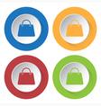 set of four icons - handbag vector image vector image