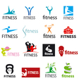 set of logos fitness and sports vector image vector image