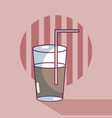 Soda on glass vector image