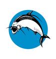 tarpon fish jumping vector image vector image
