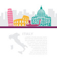 template leaflets with a map and vector image vector image