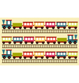 train pattern toy background vector image vector image