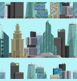 urban city outdoor landscape skyscraper house vector image vector image