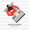 user profile design vector image vector image