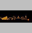 valencia light streak skyline vector image