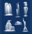 waterfall flowing fresh clean and transparent vector image vector image