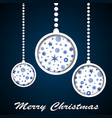 white christmas toys with stars and snowflakes vector image vector image