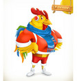 Rooster Animal 2017 New Year mascot East calendar vector image