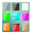 Set of multicolored notepads vector image