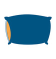 bed pillow color section silhouette on white vector image