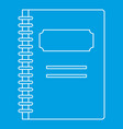 school notebook icon outline style vector image