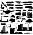 set of grunge elements and urban design vector image