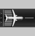 a modern jet passenger white plane on runway vector image vector image