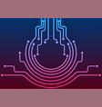 abstract blue purple neon circuit board lines vector image vector image