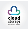 Abstract cloud storage logotype concept isolated vector image