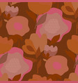 abstract decorative flower seamless pattern vector image