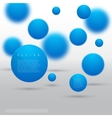 Abstract geometric shape from blue circles vector image