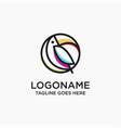 abstract line toucan bird logo icon template vector image