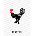 Abstract rooster vector image vector image