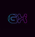 alphabet letter combination gx g x logo company vector image vector image